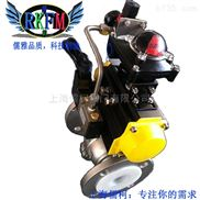 不锈钢气动衬氟球阀-上海儒柯