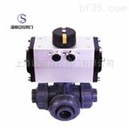 Q614/615S气动塑料三通球阀厂家直销