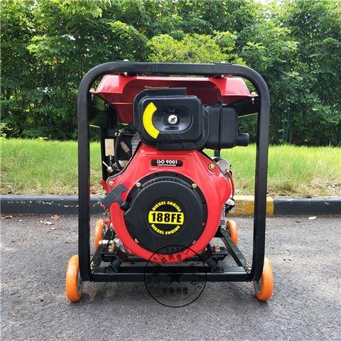 工地上移动5KW柴油发电机
