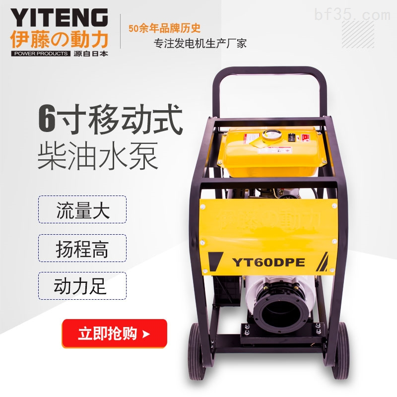 6寸柴油機自吸水泵YT60DPE